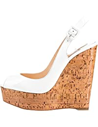 Calaier Mujer Catomorrow Tacón Ancho 14CM Sintético Hebilla Sandalias de vestir Zapatos