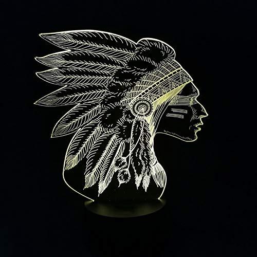 Farbwechsel Neuheit Usb Acryl Nachtlichter 3D Led Indische Modellierung Touch Button Tischlampe Schlafzimmer Nacht Beleuchtung Geschenke