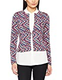 TOM TAILOR Damen Anzugjacke Colourful Blazer, Schwarz (Black 2999), 36 (Herstellergröße: S)