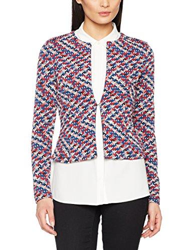 TOM TAILOR Damen Anzugjacke Colourful Blazer, Schwarz (Black 2999), 34 (Herstellergröße: XS)