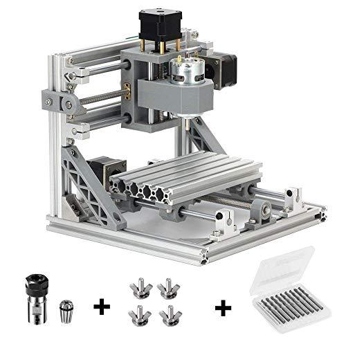 Mcwdoit DIY CNC Router Kits 1610 GRBL Steuerung Holzschnitzerei Fräsen Graviermaschine (Arbeitsbereich 16x10x4,5 cm, 3 Achsen, 110 V-240 V)