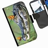Hairyworm- Fisch Seiten Leder-Schützhülle für das Handy Sony Xperia J (ST26i/ST26a)