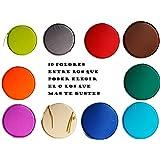 Originales cojines redondos para asientos disponibles en 10 colores diferentes (turquesa)
