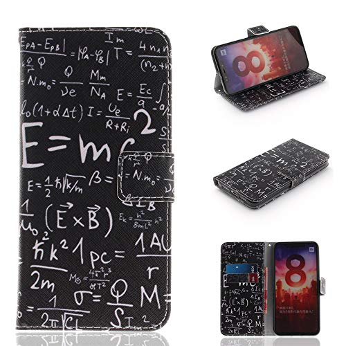 Venga amigos Funda Libro Xiaomi Mi 8,[Soporte Plegable] [Ranura para Tarjetas] [Cierre Magnético] Cubierta Silicona Dentro,Protección De Cuerpo Completo Carcasa para Xiaomi Mi 8