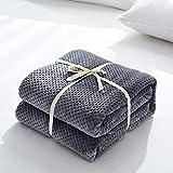 Weich Mikrofaserdecke Wohndecken Kuscheldecken Tagesdecke Fleecedecke Sofadecke Kuschelige Decke Dunkelgrau 70x100cm