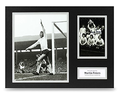 Martin-Peters-Signed-16×12-Photo-Autograph-Tottenham-Memorabilia-Display-COA