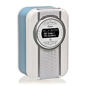 Radio digitale DAB e DAB+ VQ Christie con FM, Bluetooth/NFC, sveglia, display rotante e fascia smaltata Blu
