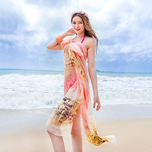 Écharpes de Lady Femmes châle 2018 impression protection solaire anti-UV mince écharpe double usage serviette de plage foulards printemps et automne voyage vacances cadeaux 180 cm * 150 cm ( Color : 1 )