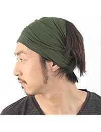 Casualbox Hombre Elástico Bandana Cinta Para El Pelo Venda Japonés Largo Cabello Rastas Cabeza Envolver Mezcla