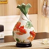 Maivace Keramische Vase dekorative Ornamente Blumen-Arrangement Chinesische elegante Emaille Porzellan mehr als ein Jahr in der klassischen Home