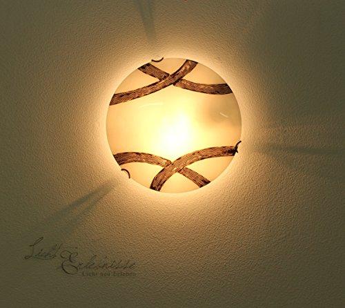 Rustikale Wandleuchte Deckenleuchte im Jugendstil mit Bronze Lackierung Deckenlampe Wandlampe