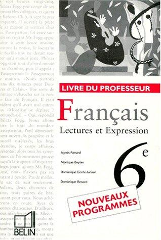 Français classe de 6e - livre du professeur