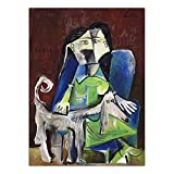 zxddzl Druck Leinwand Kunst Wandbild Poster Leinwanddruck Gemälde Picasso Spanien 40x60cm KEIN Rahmen K06276