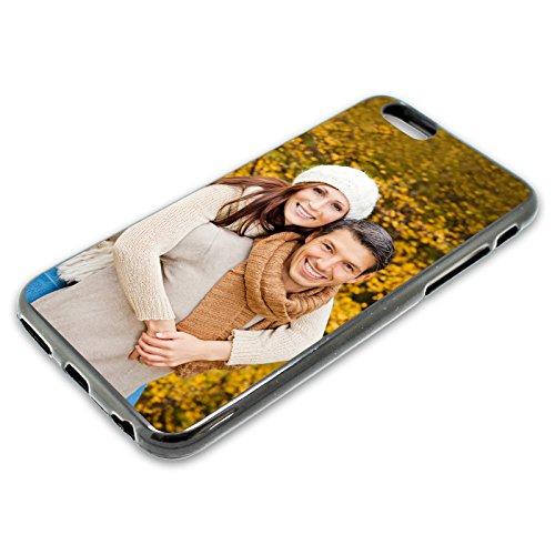 PixiPrints Foto-Handyhülle Kompatibel mit Apple iPhone XS Max selbst gestalten und mit eigenem Bild Bedrucken * Hüllentyp: TPU-Silikon/Schwarz