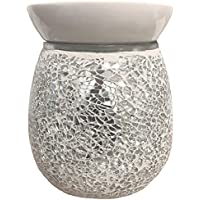 Pure Air Airpure THE MOSAIC SILVER Electric Wax Melt Oil Melter Burner with Backlight