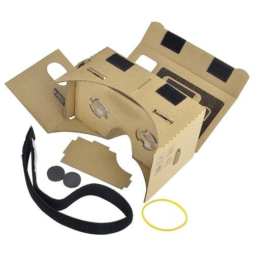 Karton Virtual Reality Brille / Stirnband, Braun