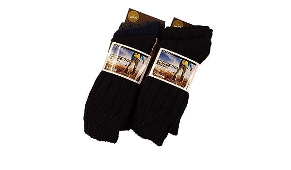 R14 Outdoor Walking Work Boot Socks 12 Pairs Of Men/'s Thick Chunky Wool Socks