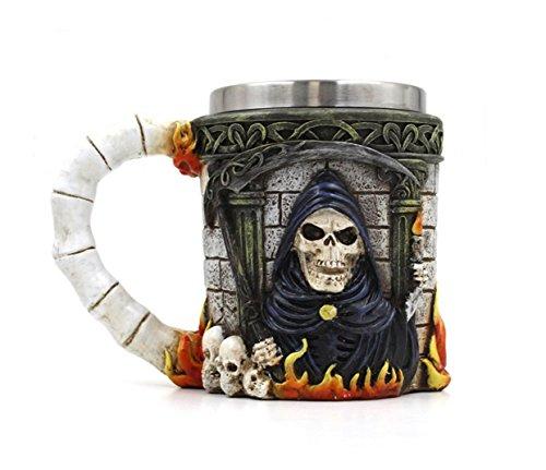 dingsheng Neuheit 3D Creative Kaffee Tassen, 3D Totenkopf Bier Becher kräftigen Kaffee Tee Flasche Tasse Bierkrug Trinkbecher 008