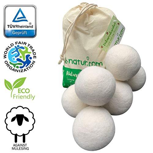 Bolas de secado 8-Natur extragrandes XXL, paquete de 6: la alternativa natural a los productos químicos...