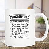 Andrea1Oliver Programmierer-Kaffeetasse Programmierer-Geschenk-W?rterbuch-Definitions-Tee-Schale 11oz Geschenk f¨¹r ihn