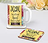 TiedRibbons® Gifts For Mom Coffee Mug(325ml) with Coaster