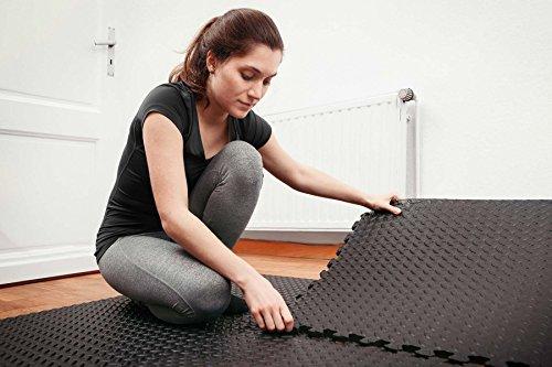 Matelas de protection de sol »PuzzleUp« / Matelas d'entrainement de sport et de fitness, matelas de yoga / protection de sol idéale en 6 éléments emboitables de 60 x 60 x 1,2 cm (env. 2,2 m²) / Dispon Pink