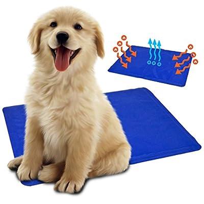 Pet Dog Cooling Mat Travel Bed Cat Puppy Self Gel Heat Summer Hot Weather Relief