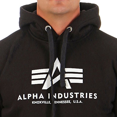 Alpha Industries Herren Hoodie Black