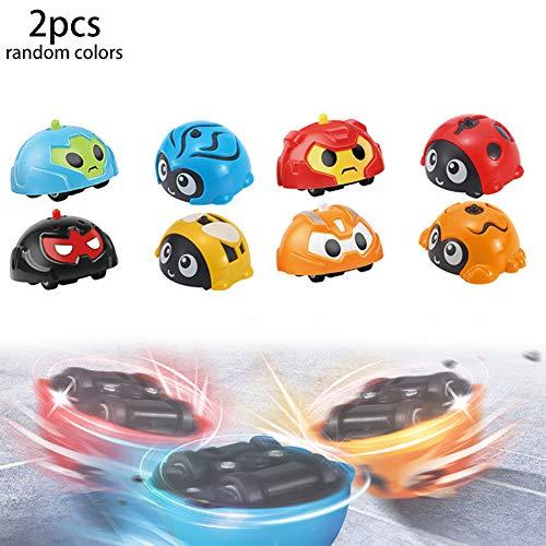 Wudi 2ST / Pack-Schlacht Gyro Kreisel Auto Spinning Toy Gyro Autos Friction Powered Kampf Autos Geschenk für Kinder und Kleinkinder (Rc Auto Gyro Drift)