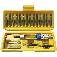 Juego de 20 bits Perforador de medio tiempo Cabezal giratorio Cambio rápido de taladrado a conducción y par de torsión Destornillador Llave fácil