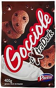 Pavesi Biscotti Frollini Gocciole Extra Dark con Cioccolato Fondente, Biscotti da Colazione - 400 g