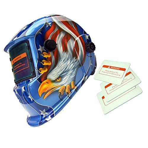 fbfb755c9ca6a0 Casque de Soudage Assombrissement Automatique Solaire Masque de Soudeur  Motif Aigle - Bleu, Taille Unique
