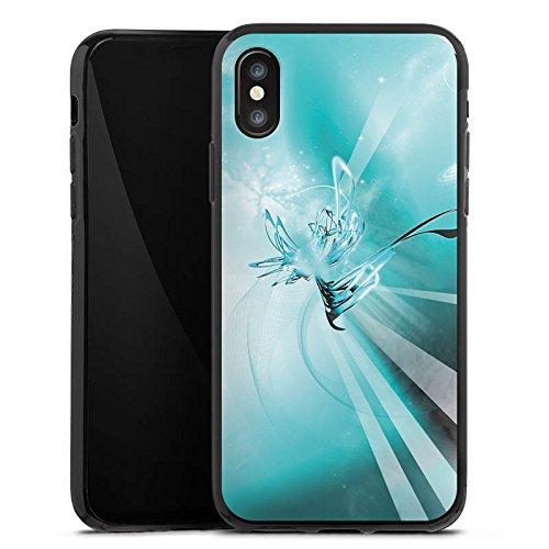 Apple iPhone X Silikon Hülle Case Schutzhülle Space Universum Abstrakt Silikon Case schwarz