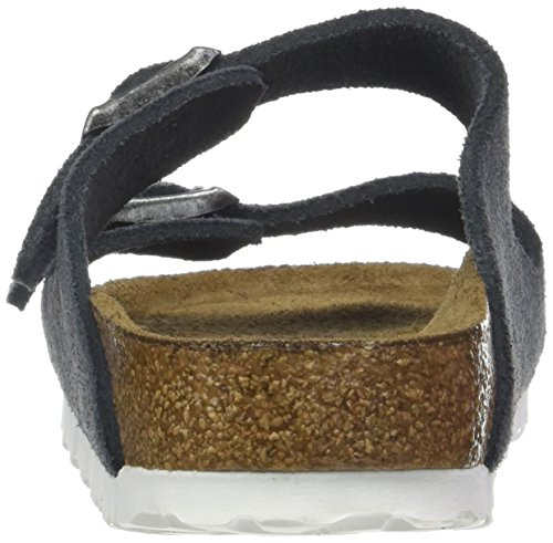 Birkenstock Arizona Leder Softfootbed, Ciabatte Unisex – Adulto Grigio (Stone Gris)