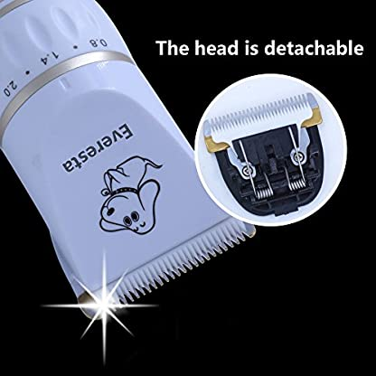 Everesta Dog Grooming Kit, Low Noise Rechargeable Dogs Shaver Clippers Electric Quiet Dog Hair Trimmer for Dogs and Cats… 6
