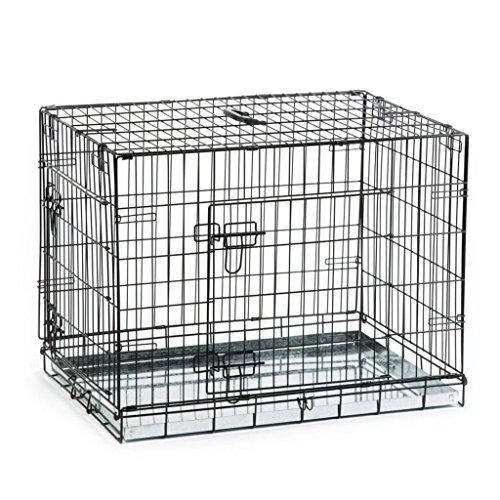 Beeztees Jaula Trasnportín para Perros Mascotas 78x55x61 cm Negra Metal 715802