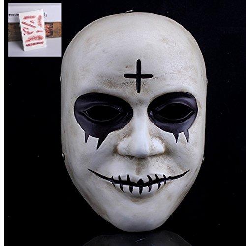 Smays The Purge Rolle spielen Polyresin Maske Geschenk für Halloween Party, maskenbälle, Stage Performance, Karneval und Bar (Halloween Purge-maske)