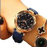 EJOLG Mode Damen Armbanduhr,Mit leuchtenden,Diamant formspiegel Damen Uhr