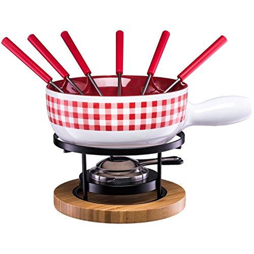 Style'n Cook Käsefondue-Set KARO Swiss Fondue aus Porzellan