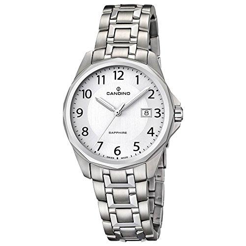 CANDINO UC4492/5 orologio unisex classico, intramontabile, in acciaio inox, analogico, al quarzo