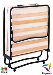 Brandina pieghevole con materassino water foam ortopedico letto salvaspazio con ruote e base - Letto pieghevole amazon ...