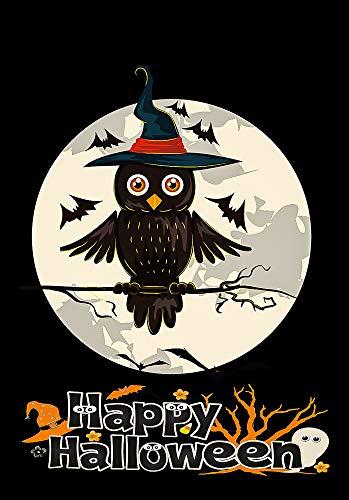 Flags Galore Dekoflagge Happy Halloween Owl On Full Mond doppelseitig Garden 12x18 Inches Multi