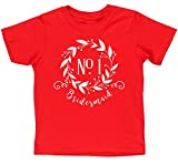 HippoWarehouse Number One Bridesmaid Floral Reef kids short sleeve t-shirt