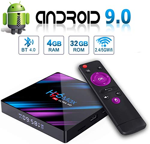 Android 9.0 TV Box H96 MAX 4GB 32GB Android Box USB 3.0 BT 4.0 2.4G 5G Dual WiFi 3D/4K H.265 KD18.1 Smart Android TV Box
