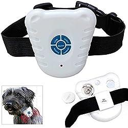 Collar Ultrasonido Antiladrido Adiestrar Perro Regulable Bark Stop Sonido Blanco