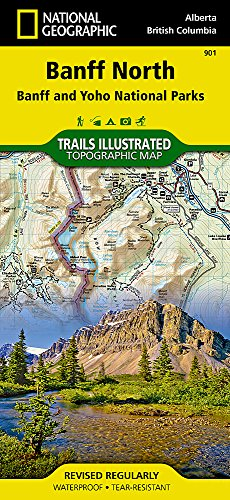 Trails Illustrated Map, No. 901: Banff North - Scale = 1:100,000 (Ersten Illustrated Sports)