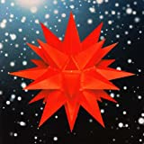 Unbekannt Stern A4 rot, ca. 40cm, Plastik