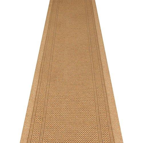 alfombra para pasillo de Extreme; resistente, antideslizante, en color beige claro, de alta calidad, 66 cm x 2,50 m