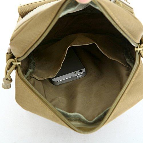 YAAGLE Herren Schultertasche Briefträger Kleine praktische Umhängetasche Militär Fans Messenger Bag für iPad Air, iPad Mini Tarnung #1