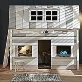 Promo Alfred & Compagnie - Lit cabane couchage à l'étage 90x200 Robinson
